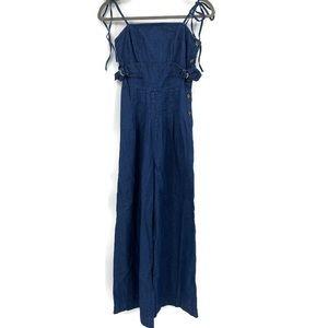 Free People Brittany Denim Jumpsuit Size 0